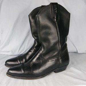 Bosi Women's Leather Boots Size 8.5 M Black Leathe